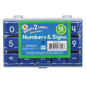 (2 St) Manuscript Numbers Stamp Set 1 Numbers & Signs