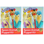 (2 Ea) Ready2learn Craft Kit Spoon Animals