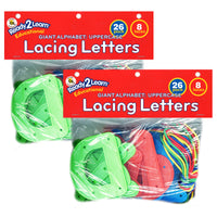 (2 Ea) Ready2lrn Lacing Letters Uppercase