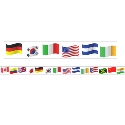 World Flags Theme Magnetic Border