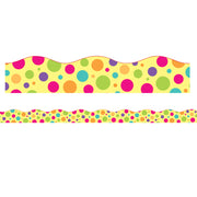 Colorful Dot Magnetic Border Scalloped