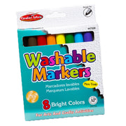 Markers Washable Broad Tip 8-bx Assorted Colors