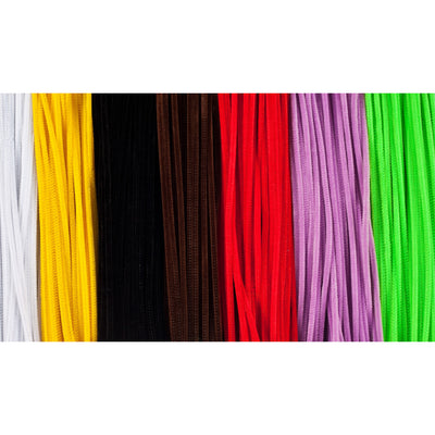(3 Bx) Chenille Stems 6in Asst Clrs 1000 Per Box