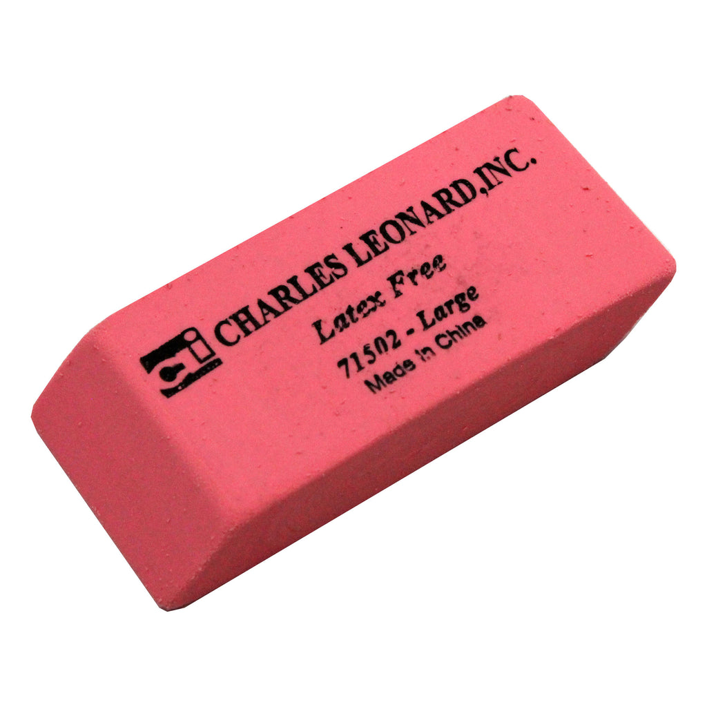 12-bx Synthetic Pink Wedge Erasers Large