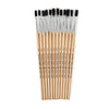 Brushes Stubby Easel Flat 1-4in Natural Bristle 12ct