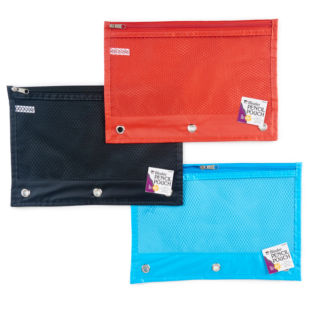 PENCIL POUCH 1 POCKET 24ST ASSORTED