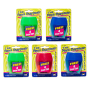 3 Hole Pencil Sharpnr 12 Set Assorted Colors With 4 Erasers