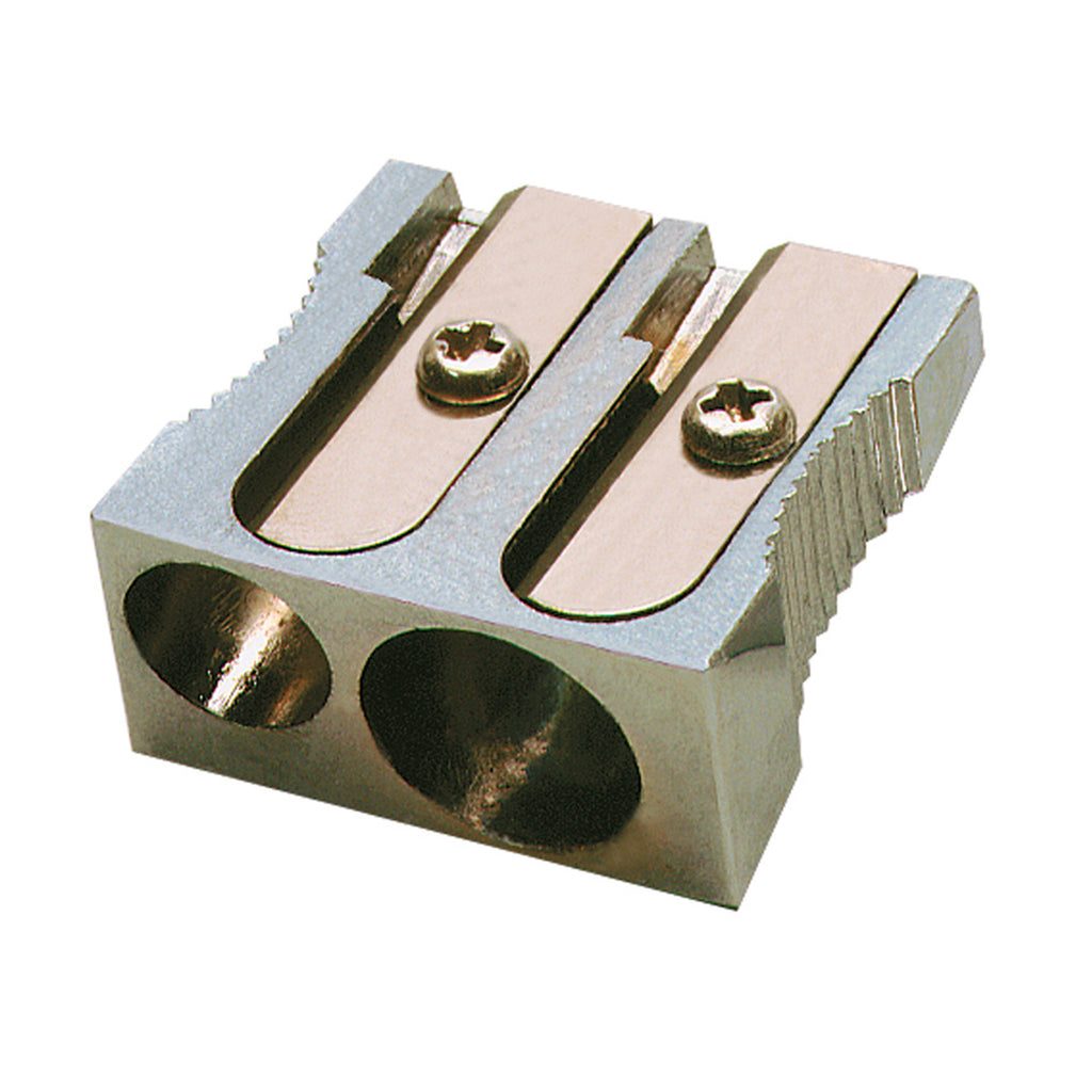METAL 2-HOLE PENCIL SHARPENER