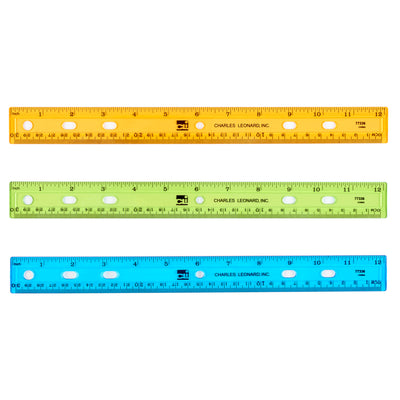Ruler Plastic 12in Flat Translucent Let Us Choose Your Color