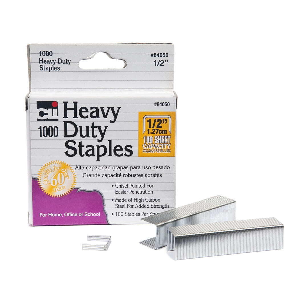 (6 Ea) Extra Hvy Duty Staples 1-2in