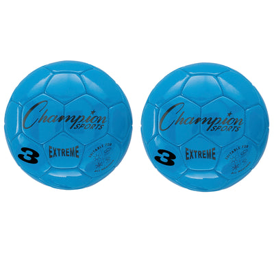 (2 Ea) Soccer Ball Size3 Composite Blue