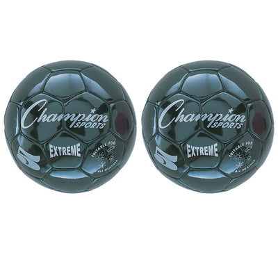 (2 Ea) Soccer Ball Size 5 Composite Black