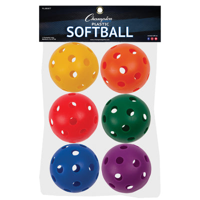 Plastic Balls Softball Size 6 Set