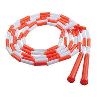 Plastic Segmented Ropes 10ft Orange & White