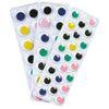 (6 Pk) Peel & Stick Wiggle Eyes On Sheets Multi Color