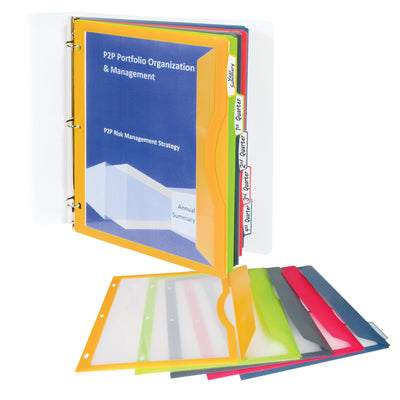 (6 Pk) C Line Binder Pockets With Write Ontabs