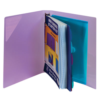 (3 St) C Line Mini Binder Starter Kit Assorted
