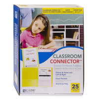 C-line Ylw 25ct Classroom Connector School To Home Folders