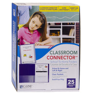 C-line Pur 25ct Classroom Connector School To Home Folders