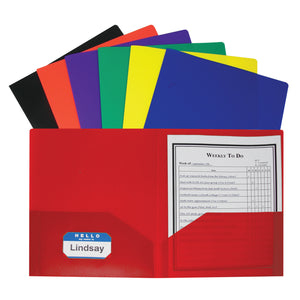 Two Pocket Poly Portfolios 36-box Assorted Without Prongs
