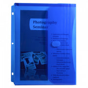 C-line Binder Pocket W- Hook & Loop Closure Blue 5pk