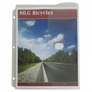 C-line 5pk Binder Pockets W- Hook & Loop Closure Side Loading Clear