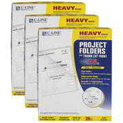(3 Ct) Recycled Project Folders Clear