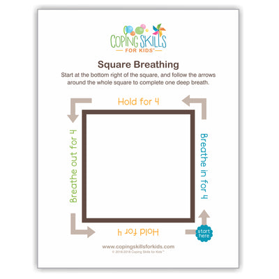 Square Deep Breathing Poster