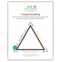 Triangle Deep Breathing Poster