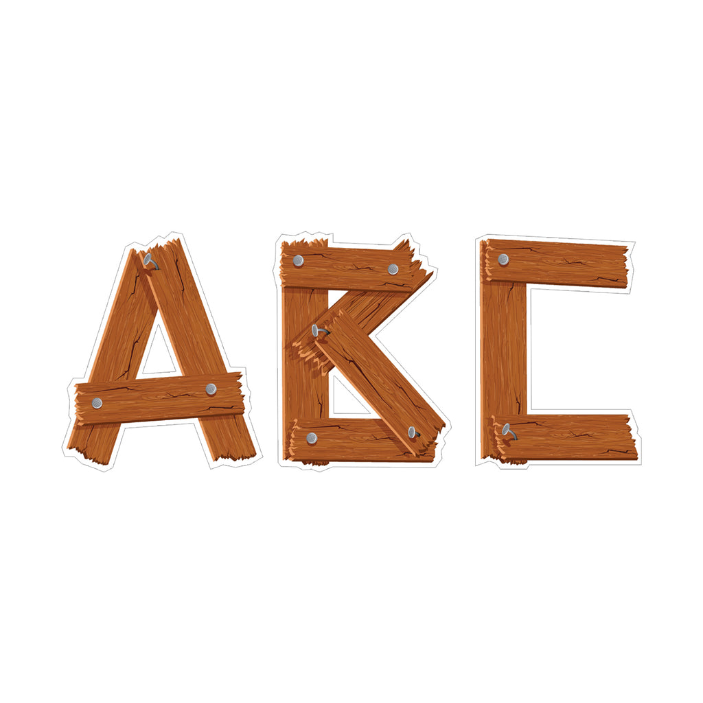 Timber Punchout Uppercase Letters