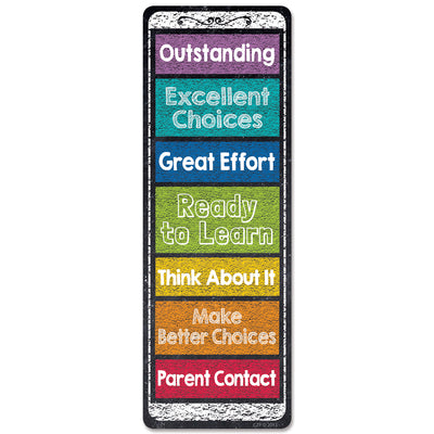 (6 Pk) Chalk It Up Desktop Behavior Clip Charts Bookmarks