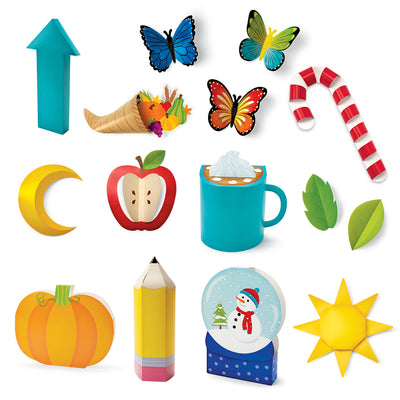 3d Pop Year Round Seasonal Bb Set