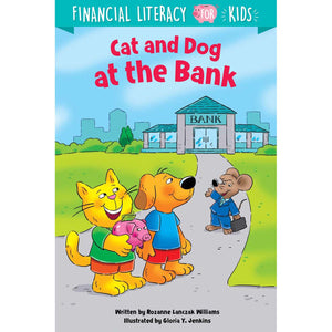 Cat And Dog At The Bank