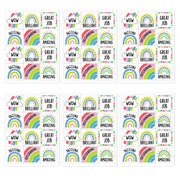 (6 Pk) Rainbow Doodles Reward Stickers - Student Spotlight