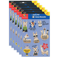 (6 Pk) Bold Bright Llama Reward Stickers