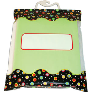 Dots On Black Storage Bags 6 Pack