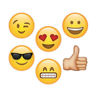 10in Emoji Fun Designer Cut-outs