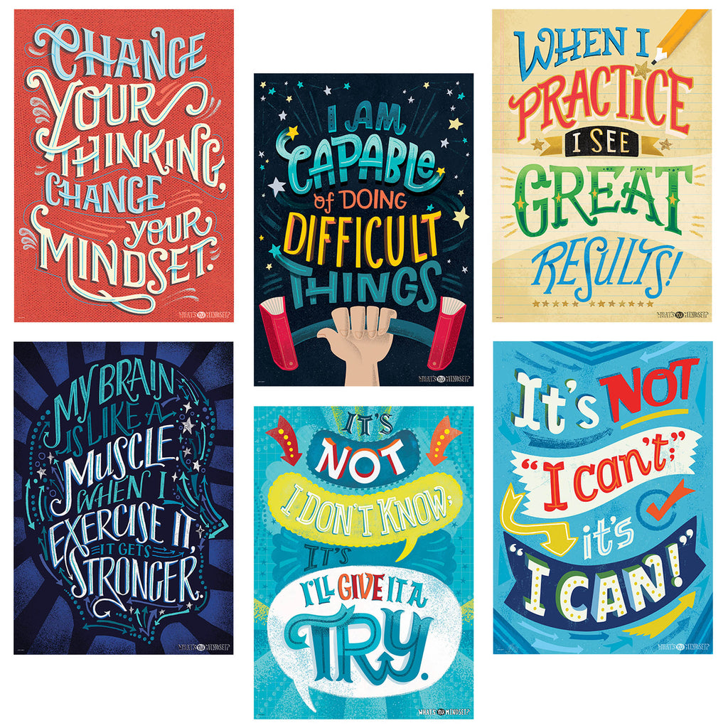 Inspire U Posters 6 Pack Whats Your Mindset