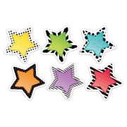(6 Pk) 3in Bold Bright Stars Cutout Designer