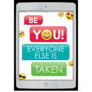 Be You Emoji Fun Inspire U Poster