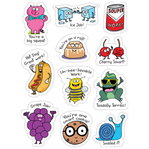 (6 Pk) So Much Pun Punny Rewards Stickers