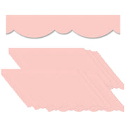 (6 Pk) Blush Stylish Scallops Border