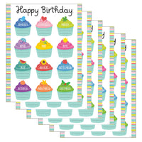 (6 Ea) Color Pop Birthday Chart