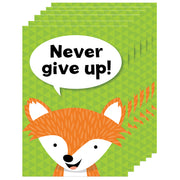 (6 Ea) Never Give Up Woodland Friends Inspire U Poster