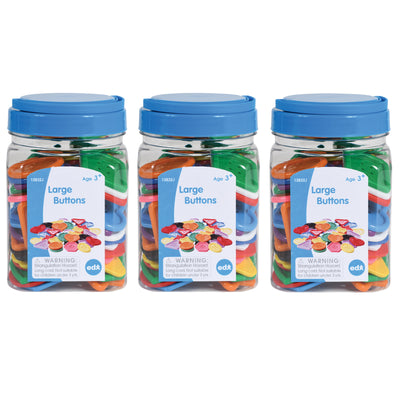 (3 Ea) Large Buttons Mini Jar