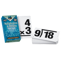 Double Value Vertical Flash Cards Multiplication Division