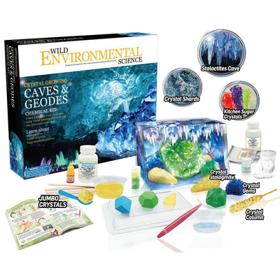Crystl Grow Caves & Geodes Chem Kit Wild Science