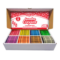 Jumbo Crayon Class Pack 8 Color 400 Count Box