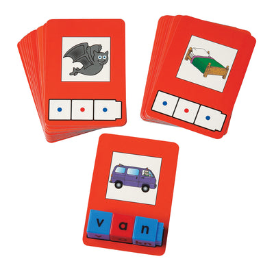 (3 Ea) Cvc Word Building Cards 24 Cards