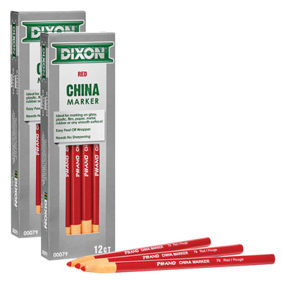 (2 Pk) Phano China Markers Red Pack Of 12